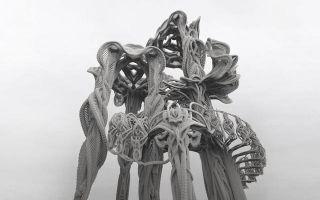 泡棉条的极致艺术力 狂野哥德风造型编织家具