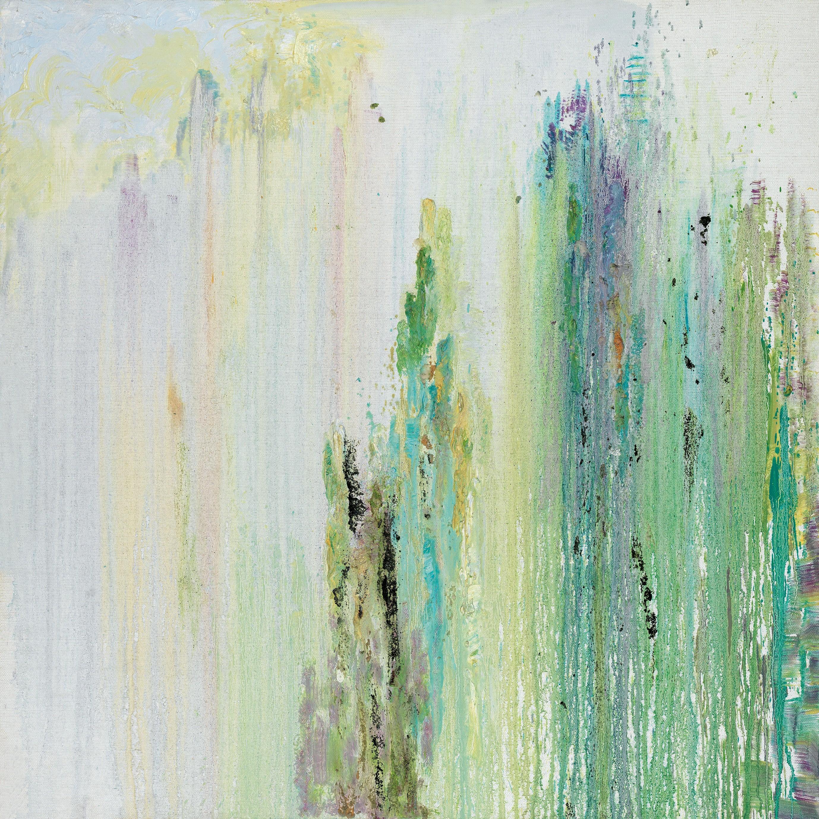 《出尘》油画 沙胶 100×100 2012年
