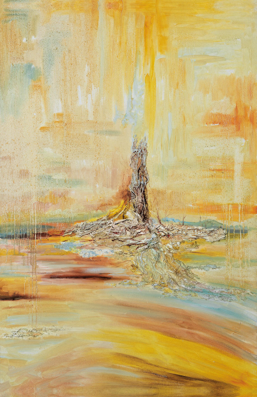 《悟语》油画 沙胶 80×120cm 2012年