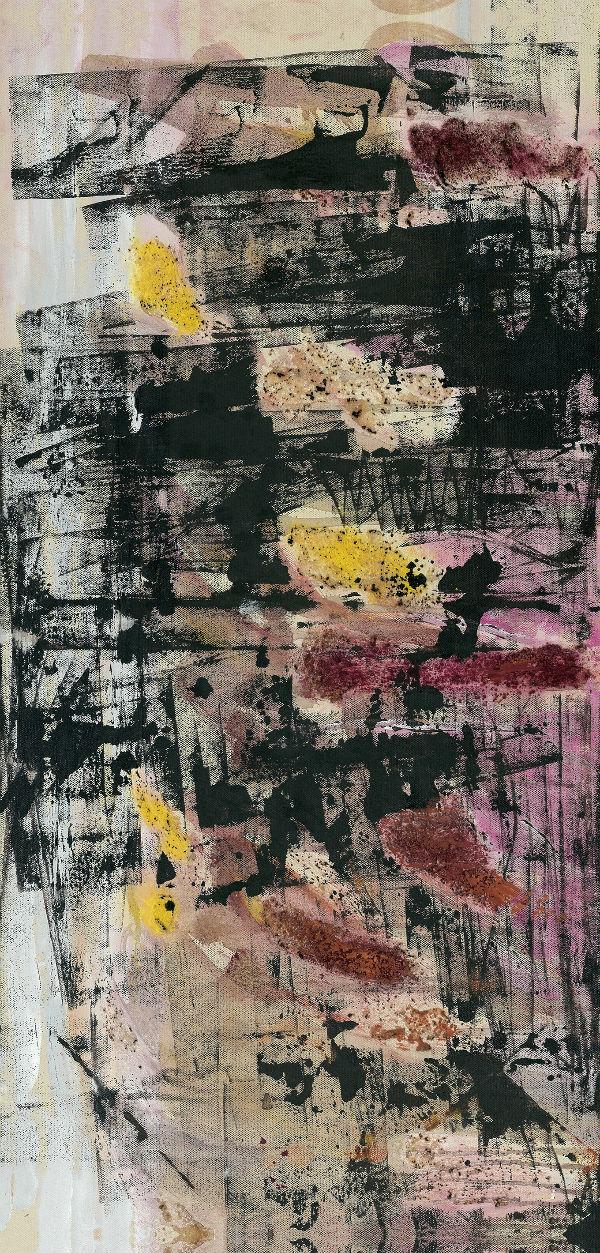 《醉荷》油画 沙胶 50×100cm 2012年