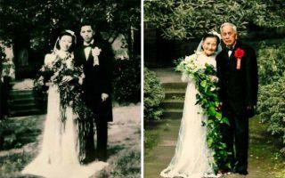 98 岁老夫妇重游旧地 重拍70年后的婚纱照