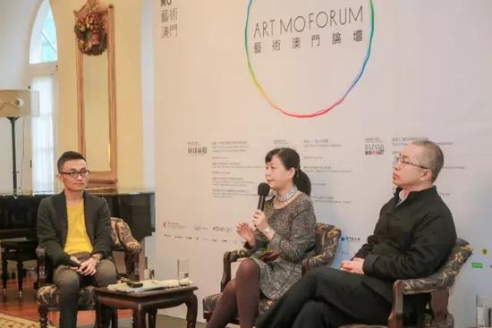 """中国人民大学艺术品金融研究所副所-黄隽正在分享""""中国大众艺术消费习惯与趋势""""论题"""