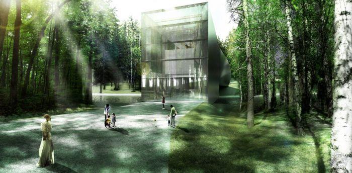 挪威河畔呈扭转造型的艺术馆  /BIG建筑事务所第3张图片