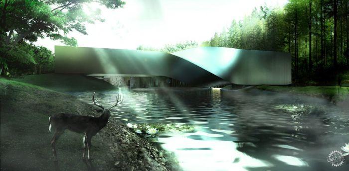 挪威河畔呈扭转造型的艺术馆  /BIG建筑事务所第2张图片