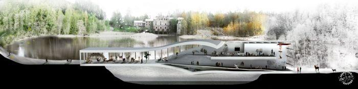 挪威河畔呈扭转造型的艺术馆  /BIG建筑事务所第12张图片