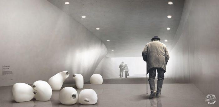 挪威河畔呈扭转造型的艺术馆  /BIG建筑事务所第11张图片