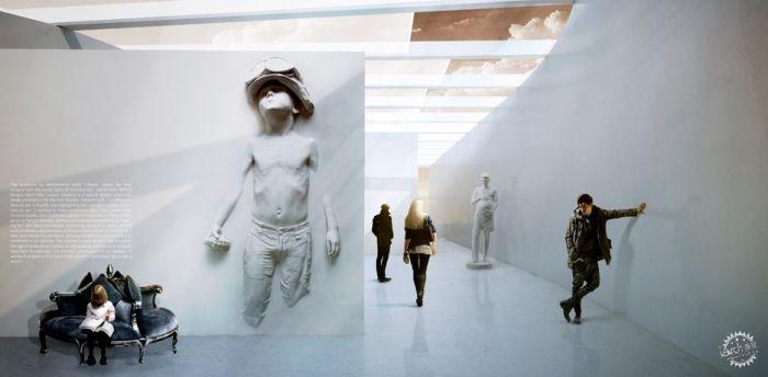 挪威河畔呈扭转造型的艺术馆  /BIG建筑事务所第10张图片