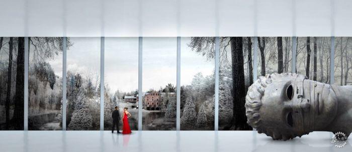 挪威河畔呈扭转造型的艺术馆  /BIG建筑事务所第6张图片
