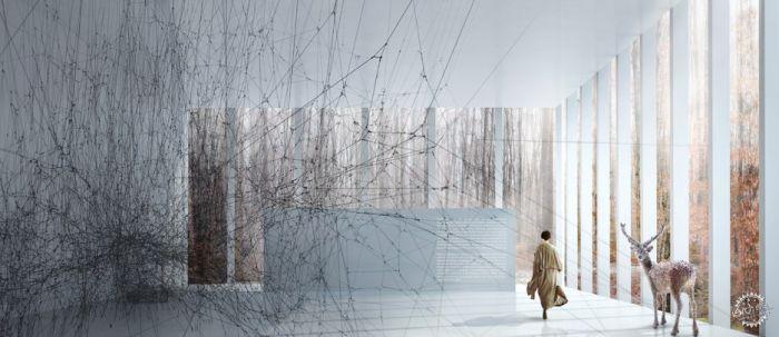 挪威河畔呈扭转造型的艺术馆  /BIG建筑事务所第7张图片