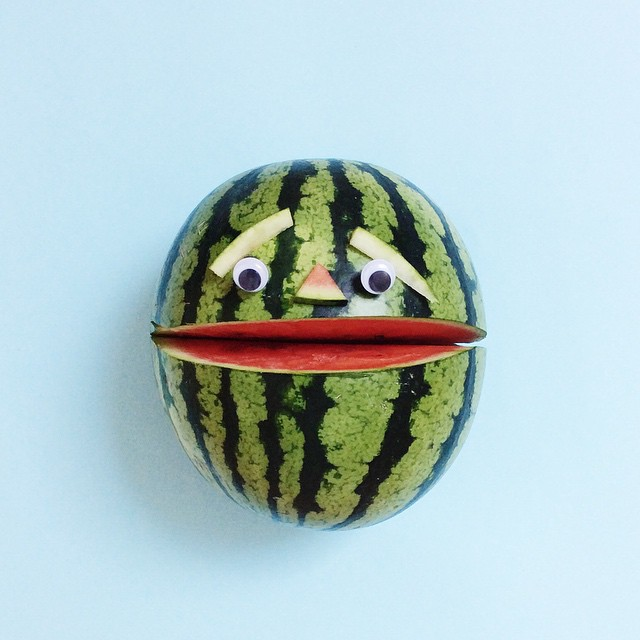Artist Brings Food To Life By Playfully Adding Quirky Faces To Them 4