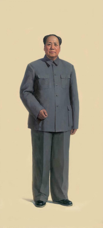 靳尚谊 1966年作 《毛泽东全身像 》