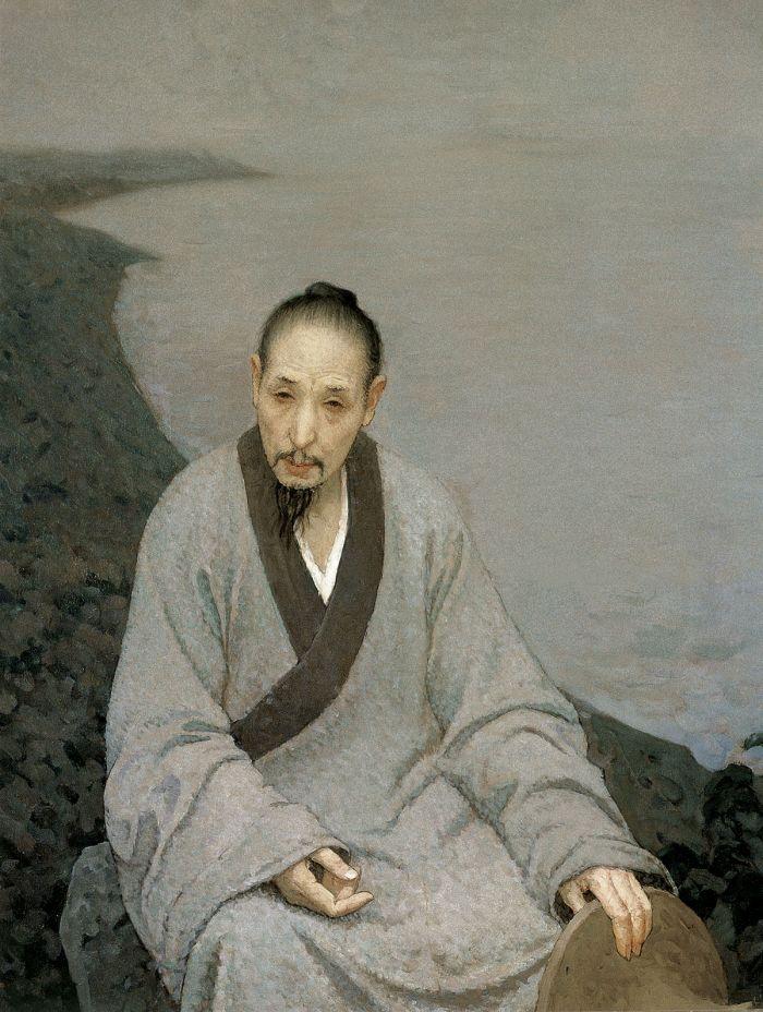 靳尚谊《八大山人》132×100cm 2006 布面油画 中国美术馆藏