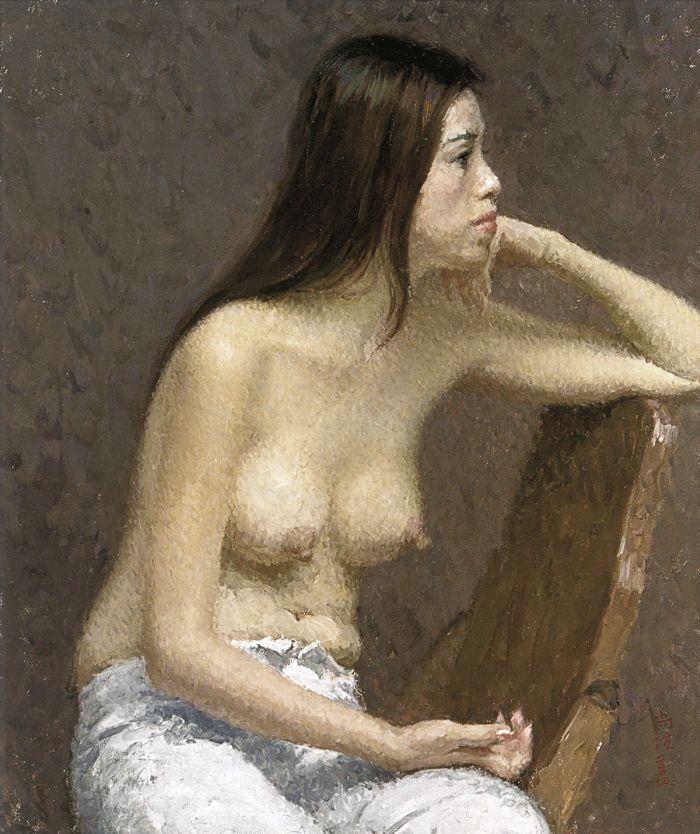 靳尚谊《沉思》60×50cm 2004 布面油画