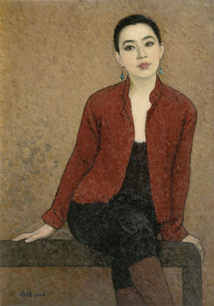 靳尚谊《陈曦肖像》80×55.5cm 2006 布面油画