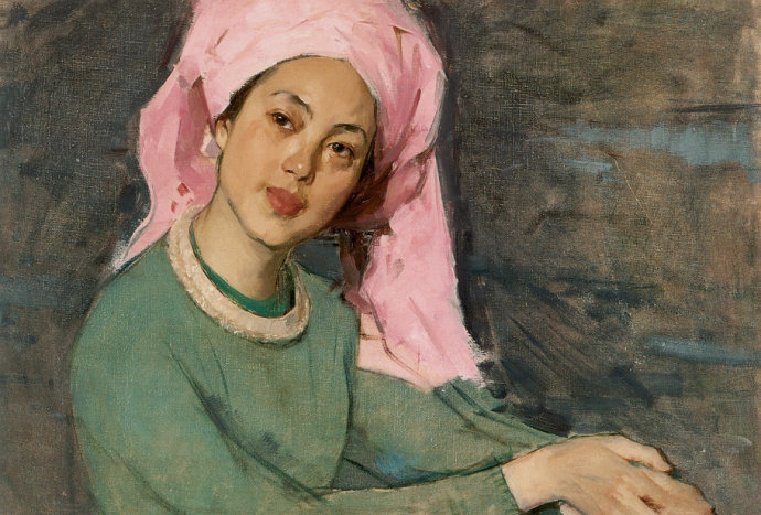 靳尚谊《傣族妇女》50.2×72.8cm 1961 布面油画