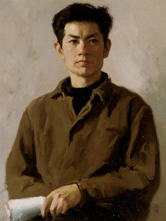 靳尚谊《大学生》54.2×41cm 1978 纸板油画