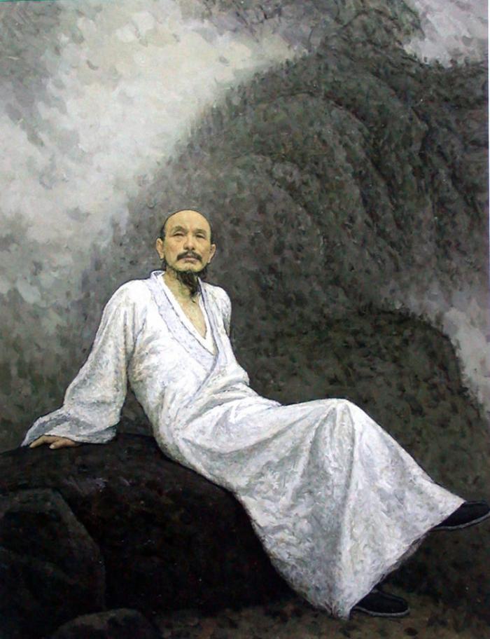 靳尚谊《画僧髡残 》