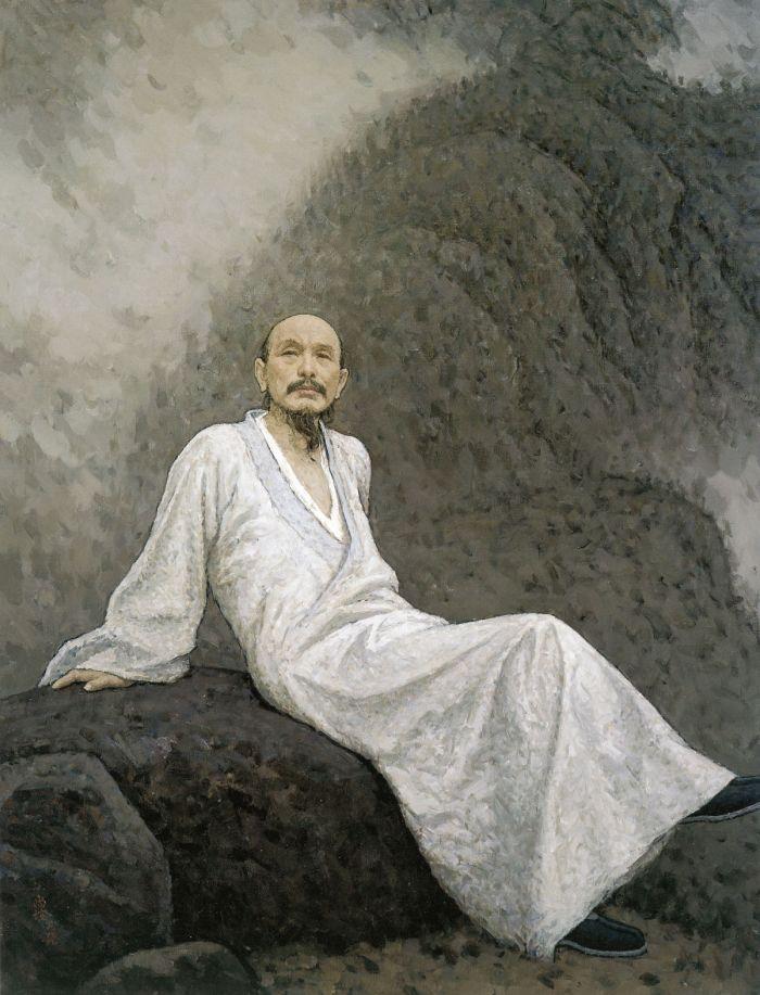 靳尚谊《髡残》150×114cm 1999 布面油画