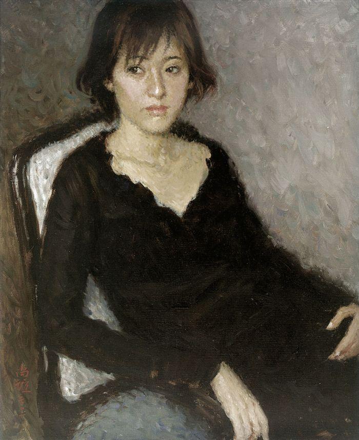 靳尚谊《美国的小松》54.8×44.8cm 2003 布面油画