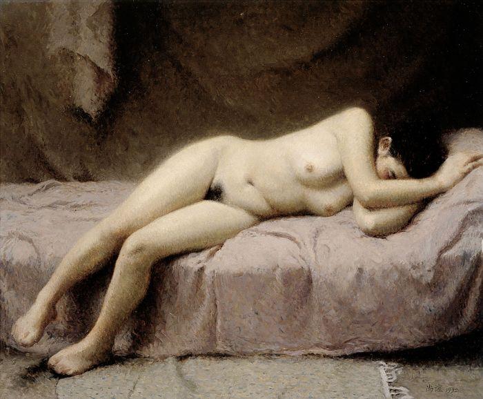 靳尚谊《梦》53×65cm 1992 布面油画 上海美术馆藏