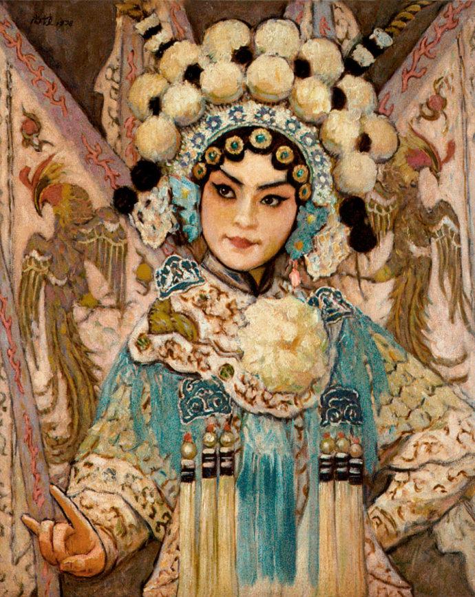 靳尚谊《穆桂英》79×65cm 1980 布面油画