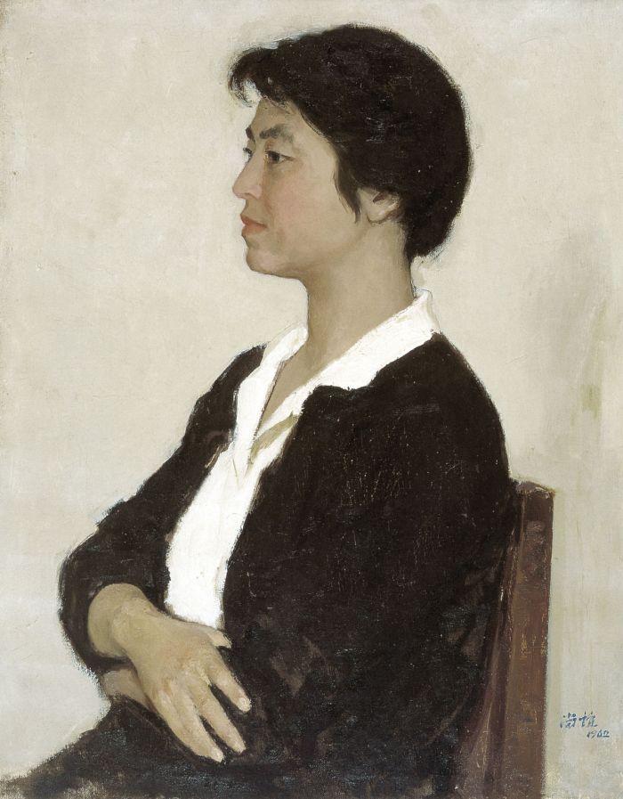 靳尚谊《彭鸿远肖像》65×50.5cm 1962 布面油画