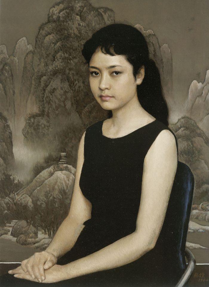 靳尚谊《青年女歌手》74×54cm 1984 布面油画 中央美术学院美术馆藏