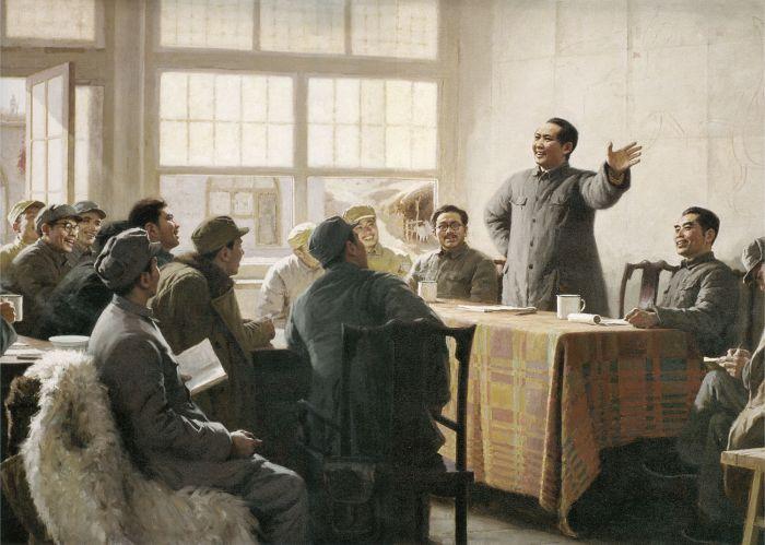 靳尚谊《十二月会议》135×160cm 1976 布面油画 中国人民革命军事博物馆藏
