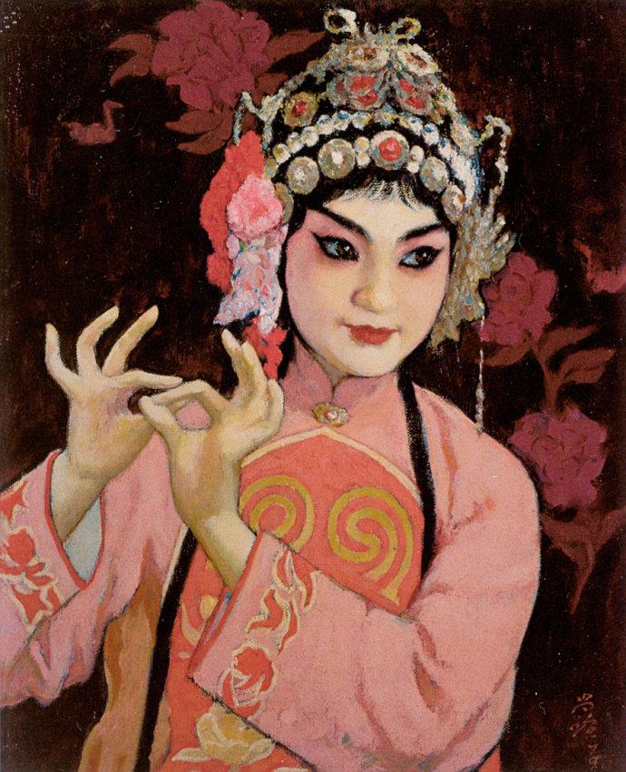 靳尚谊《拾玉镯》55.5×45.5cm 1979 布面油画
