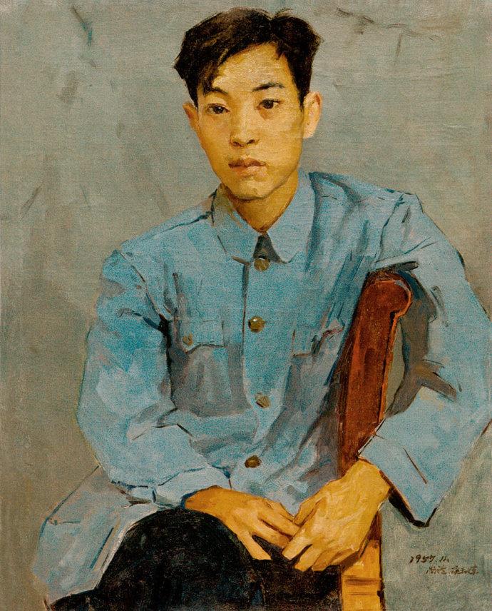靳尚谊《佟景韩像(临梅尔尼科夫) 》75×60cm 1957 布面油画