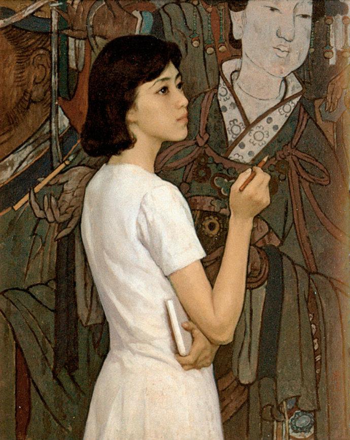 靳尚谊《探索》81×66cm 1980 布面油画