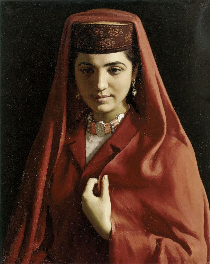 靳尚谊《塔吉克新娘》60×50cm 1983 布面油画 中国美术馆藏