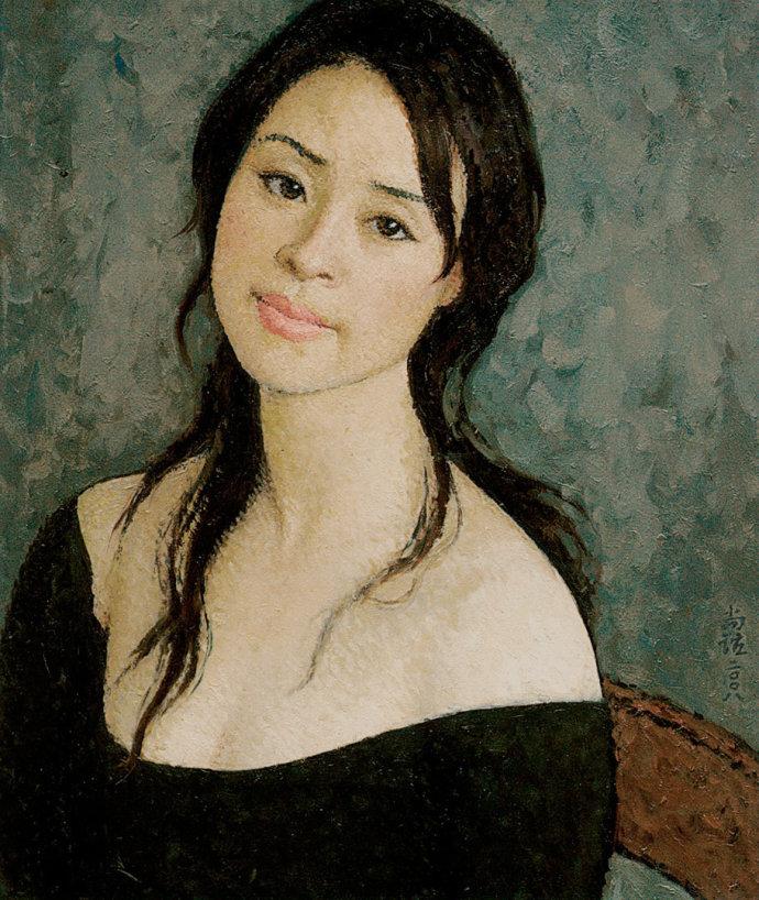 靳尚谊《王英肖像》55×46cm 2008 布面油画