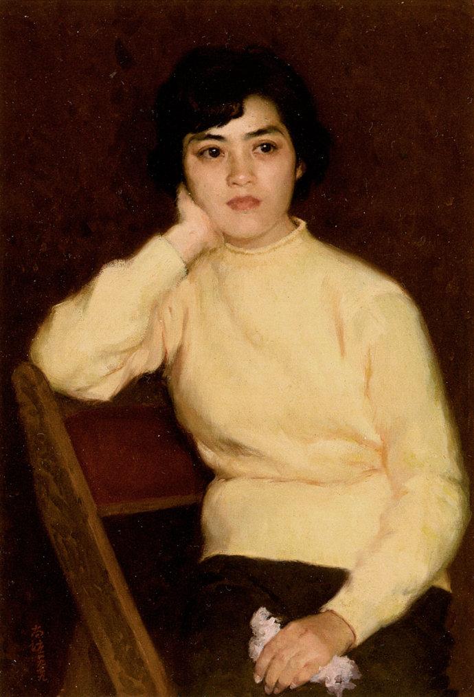 靳尚谊《小崔》79×54cm 1979 布面油画