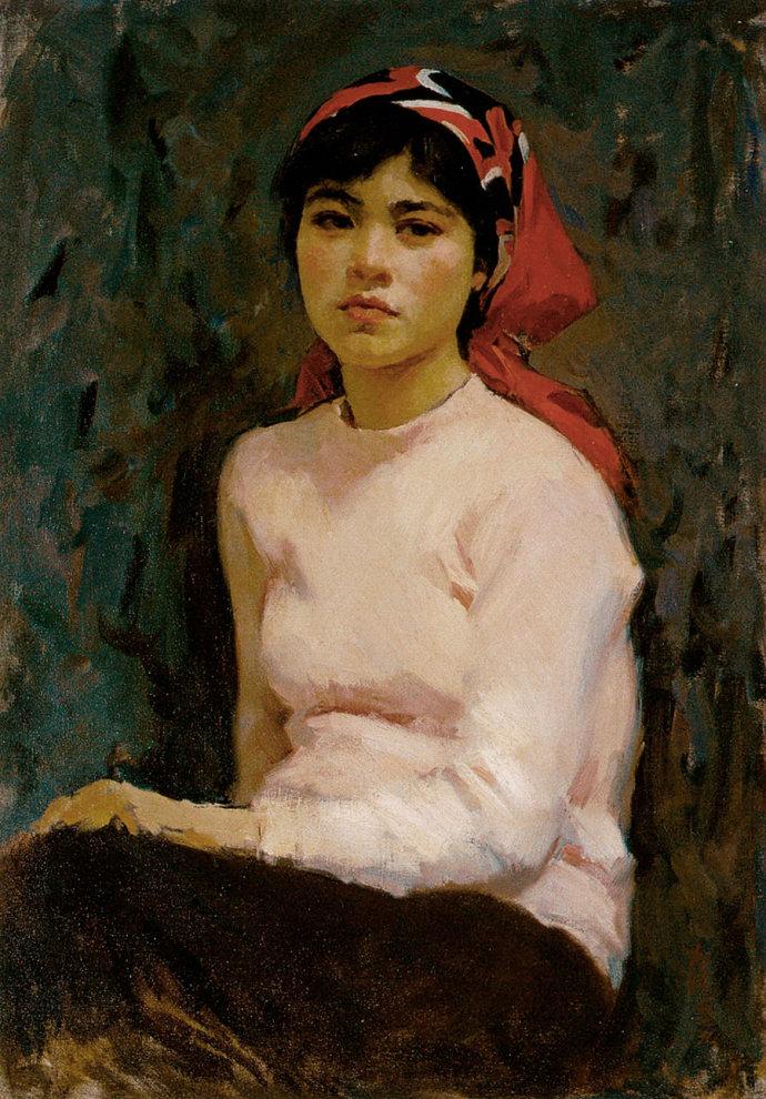 靳尚谊《小夏》76×53cm 1979 木板油画