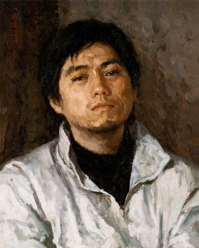 靳尚谊《学生的肖像》55.5×44.5cm 2002 布面油画