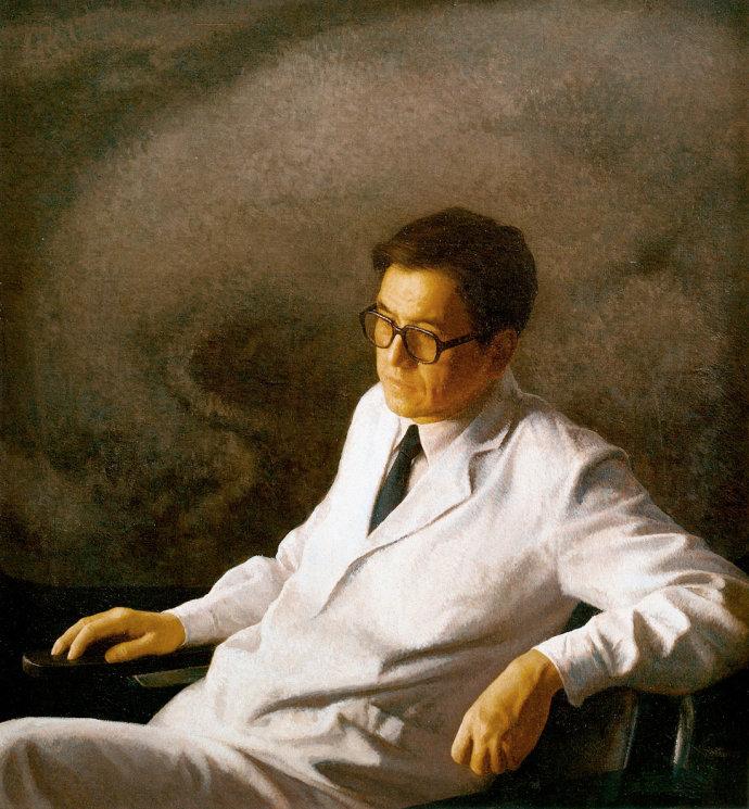 靳尚谊《医生》120×110cm 1987 布面油画 中国美术馆藏