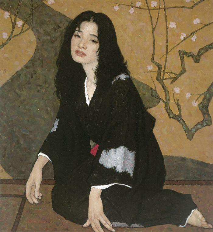 靳尚谊《醉》75×80cm 2001 布面油画