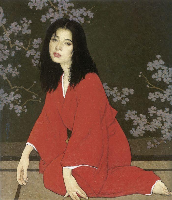 靳尚谊《醉二号》84×73cm 2007 布面油画