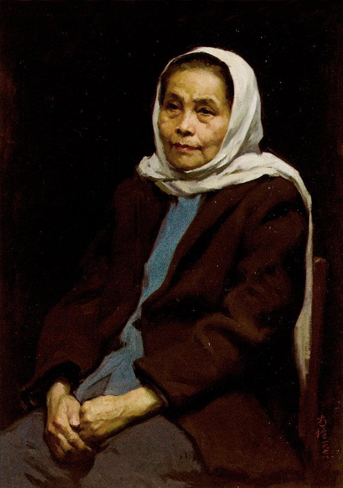 靳尚谊《坐着的老人》75.5×53cm 1976 布面油画