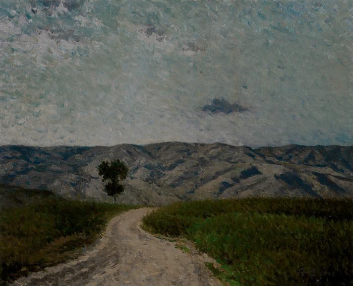 靳尚谊《高原暮色》44.5×54.7cm 2001 布面油画