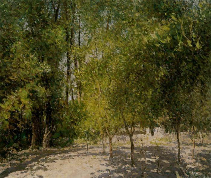 靳尚谊《延安的树林》50×60cm-2002-布面油画