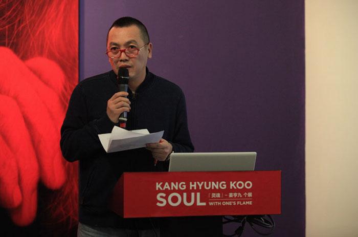 中央美术学院副教授,知名艺术家李帆 在研讨会上发言