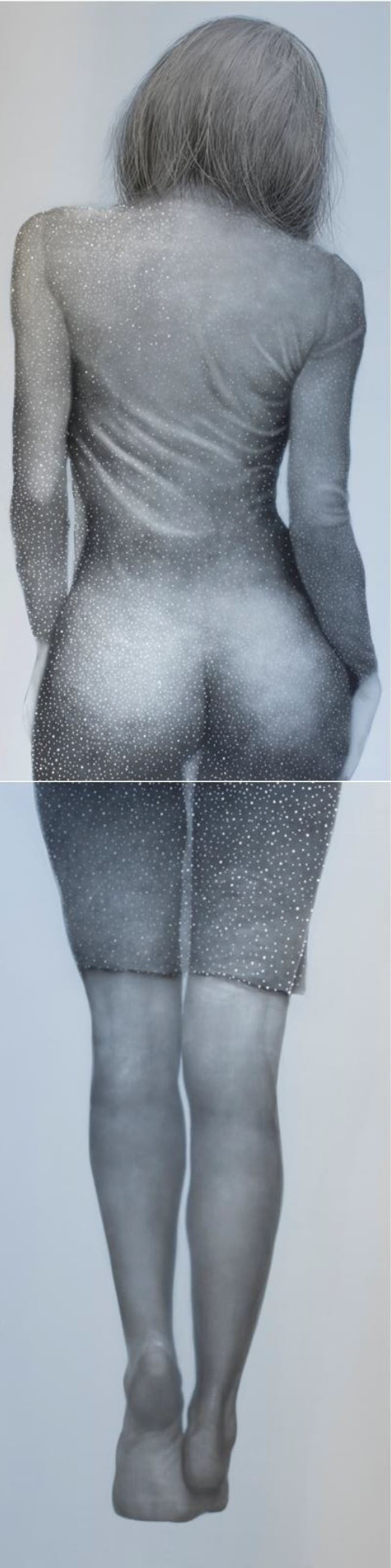 19.女人 A woman  2015   oil on aluminum   488 x 122 cm(1)