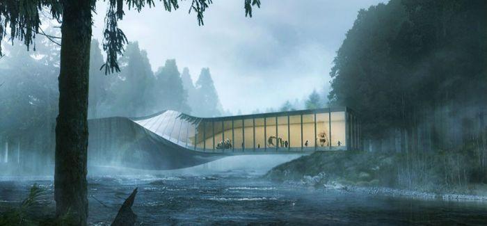 挪威河畔呈扭转造型的艺术馆 /BIG事务所