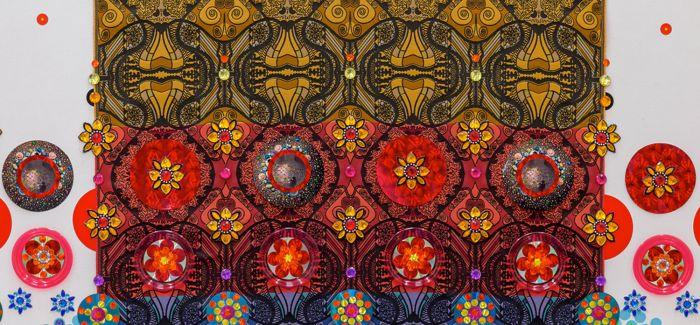 """荷兰艺术家万花筒般的""""宝石""""地毯"""