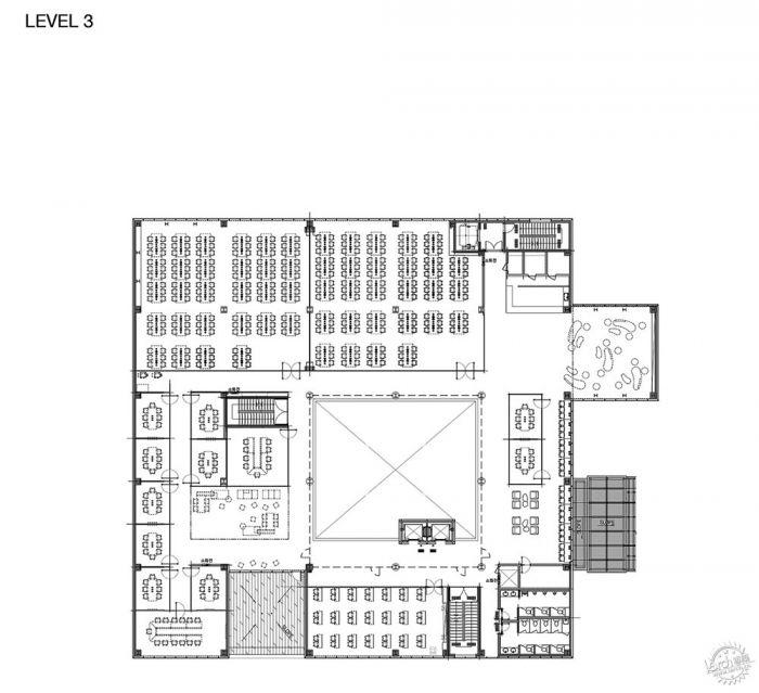 湖西大学图书馆/ Bang Keun YOU + DongWoo Architects and Consultants第22张图片