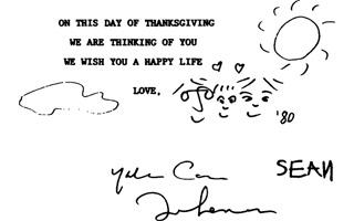 樱花树下 没有陌生人:约翰·列侬逝世35周年书信集出版