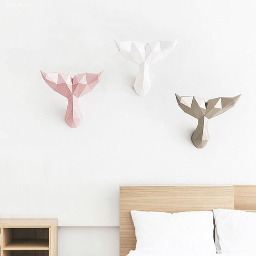 韩国papa的立体动物纸艺雕塑设计作品