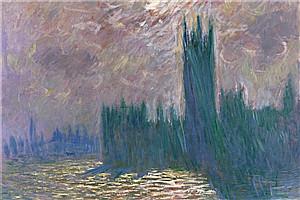 莫奈画的《伦敦国会大厦》到底是个什么鬼?
